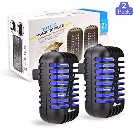 7. ANCROWN Bug Zapper Mosquito Killer, 2 Packs Indoor Plug-in Electric Insect Repellent with UV Light, Power Portable Odorless Noiseless Fly Killer for Mosquitoes Fruit Flies and Flying Gnats