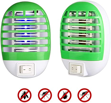 8. Innoo Tech Bug Zapper, 2020 New Electronic Mosquito Killer Lamp Insect Trap Eliminates Most Flying Pests for Home Bedroom, Kitchen, and Office (2 Pack)