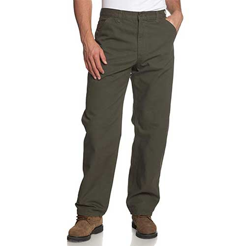 Best Work Pants for Construction Workers 4. Carhartt Men's Washed Duck Work Dungaree Pant