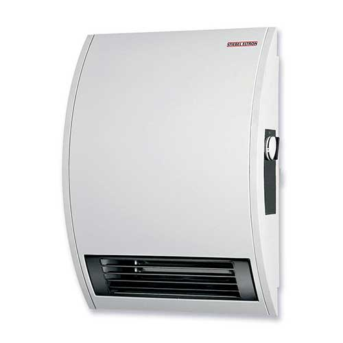 2. Stiebel Eltron 074058 120-Volt 1500-Watts Wall Mounted Electric Fan Heater