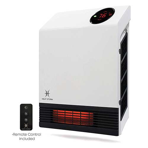4. Heat Storm Deluxe Space Infrared Wall Heater, White