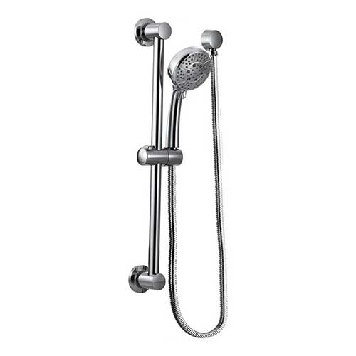 Best Handheld Shower Head with Slide Bar 2. Moen 3669EP Eco-Performance Handheld Showerhead with 69-Inch-Long Hose Featuring 30-Inch Slide Bar