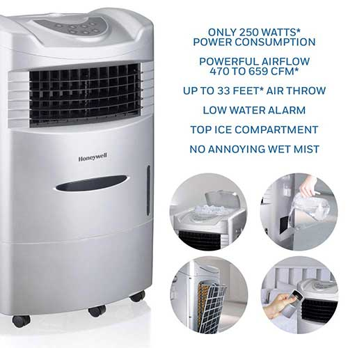 Best Portable Evaporative Air Coolers 9. Briza Cool (Black) - Air Cooler, Evaporative Air Cooler, Portable Air Conditioner, Bedroom Air Cooler