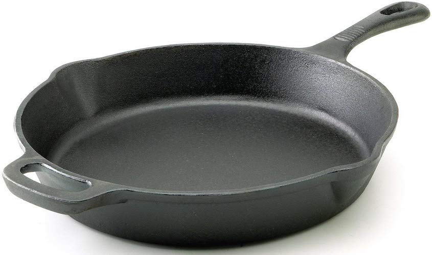 8. T-fal E83407 Pre-Seasoned Nonstick Durable Cast Iron Skillet