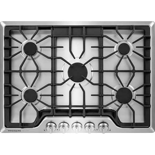 6. Frigidaire FGGC3047QS Gallery 30 Gas Cooktop in Stainless Steel