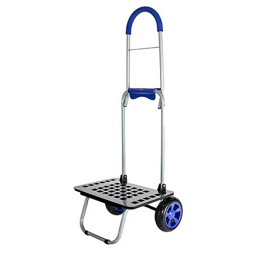 Best Hand Truck for Stairs 10. Dbest products Bigger Mighty Max Personal Dolly, Blue Handtruck Cart Hardware Garden Utility