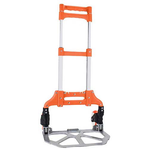 Best Hand Truck for Stairs 9. Heavy Duty Hand Truck & Dolly - 150 lb. Capacity Aluminum Utility Cart with Adjustable Shaft, Folds Down to Just 2