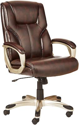 5. AmazonBasics High-Back Executive Swivel Office Desk Chair