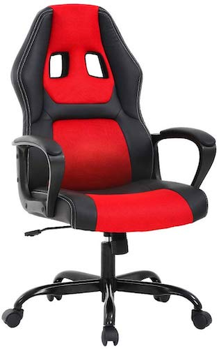 5. Home Office Chair PC Gaming Chair Ergonomic Desk Chair PU Leather Racing Chair Executive Computer Chair