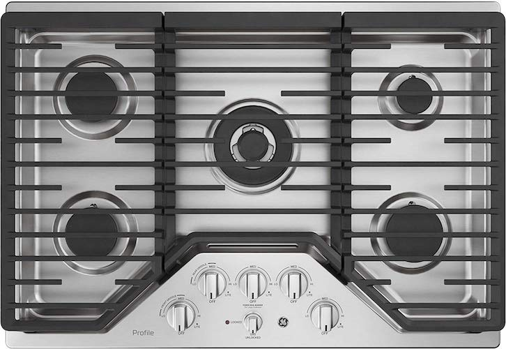 5. GE PGP9030SLSS 30 Inch Gas Cooktop