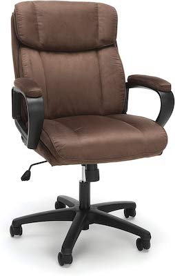 7. OFM Essentials Collection Plush Microfiber Office Chair (ESS-3082-BRN)