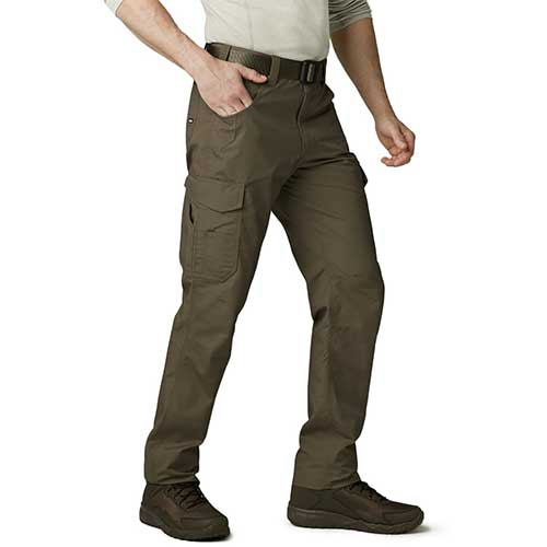 Best Work Pants for Construction Workers 8. CQR Men's Work Rip-Stop Tactical Utility Operator Pants EDC