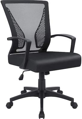 2. Furmax Office Mid Back Swivel Lumbar Support Desk, Computer Ergonomic Mesh Chair
