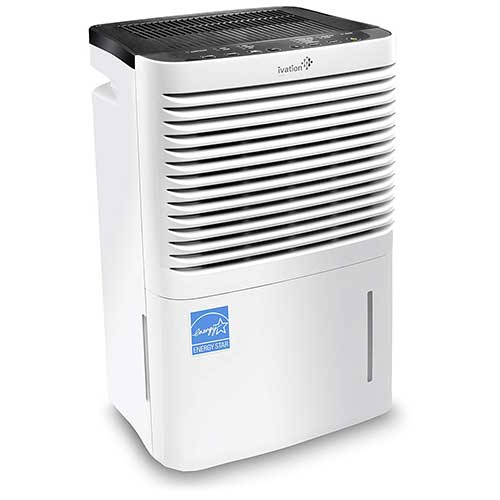6. Ivation 70 Pint Energy Star Compressor Dehumidifier with Pump, Large Capacity for Spaces Up To 4,500 Sq Ft