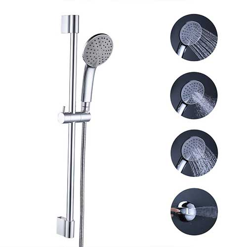 Best Handheld Shower Head with Slide Bar 6. KES Bathroom Sliding Shower 3+1 Function Head Hand Held Shower with Slide Bar Handheld Showerhead