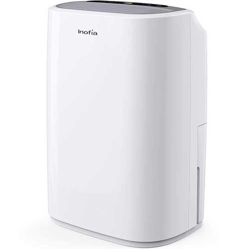 4. Inofia 30 Pints Dehumidifier Mid-Size Portable For Basements and Large Rooms, Intelligent Humidity Control