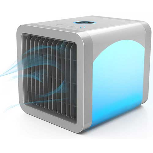 Best Portable Evaporative Air Coolers 8. Personal Air Cooler | Personal Air Conditioner for Office Desk | Small Portable AC Air Conditioner |
