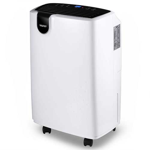 10. Yaufey 30 Pint Dehumidifier for Home Basements Bedroom Garage, 4 Gallons/Day Working Capacity