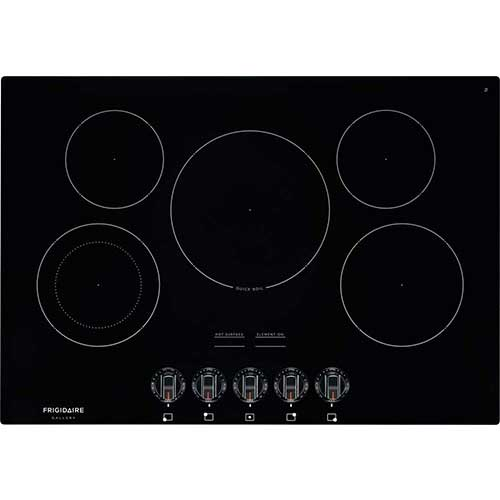 8. Frigidaire FGEC3068UB Gallery Series 30 Inch Electric Smoothtop Style Cooktop with 5 Elements in Black