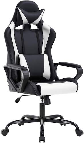 3. High-Back Gaming Chair PC Office Chair Computer Racing Chair PU Desk Task Chair