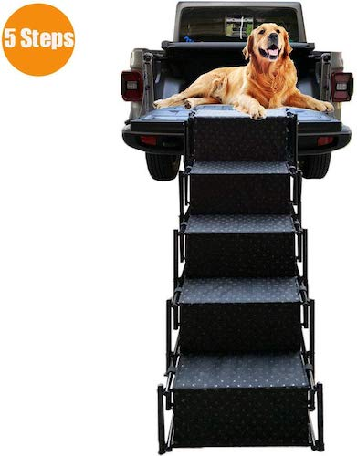 5. Upgraded Pet Dog Car Step Stairs by Snagle Paw