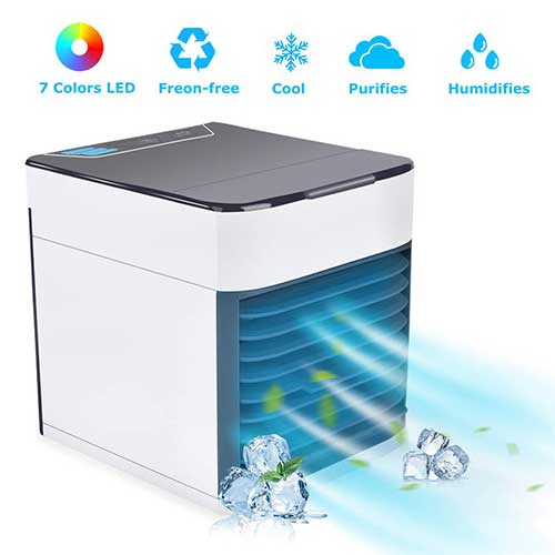 Best Portable Evaporative Air Coolers 3. BASEIN 2019 Latest Personal Air Cooler Fan, Portable Air Conditioner, Humidifier, Purifier 3 in 1 Evaporative Cooler