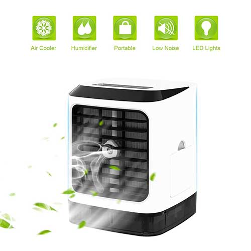 Best Portable Evaporative Air Coolers 5. Wiland Portable Air Conditioner Air Cooler, 5 in1 Desktop Mini Cooling Fan Humidifier