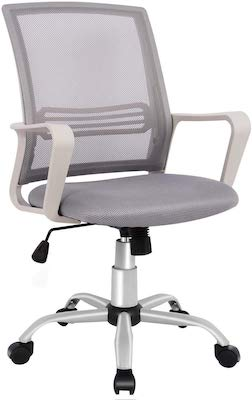 1. Office Chair, Mid Back Mesh Office Computer Swivel Desk Task Chair