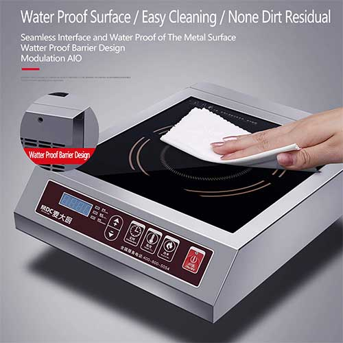 9. MDC 3500W Induction Cooktop Commercial Induction Cookware Stove Stainless Steel Electric Countertop