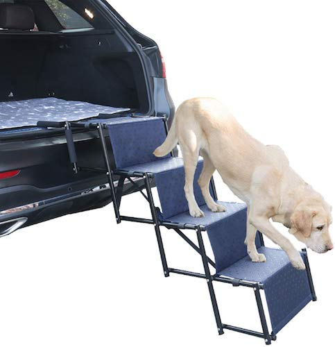 7. Upgraded Nonslip Car Dog Steps by Heeyoo