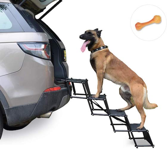 3. Upgraded Nonslip Car Dog Steps by Heeyoo