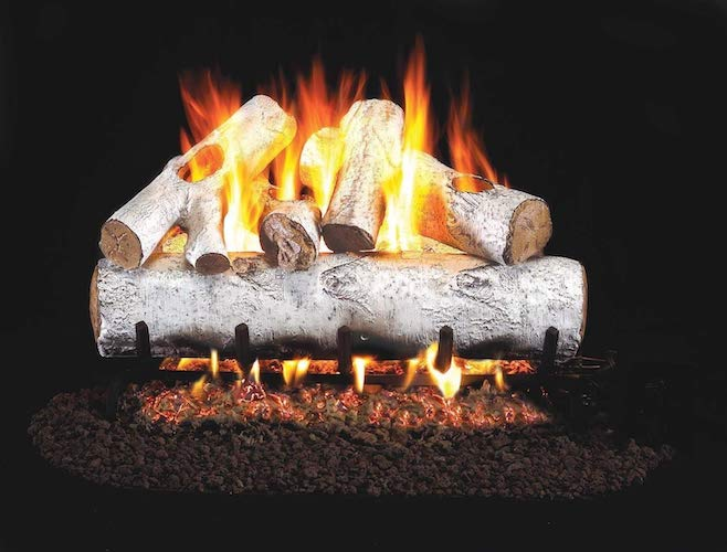 5. RealFyre White Birch Vented Gas Logs (W-24), 24-Inch