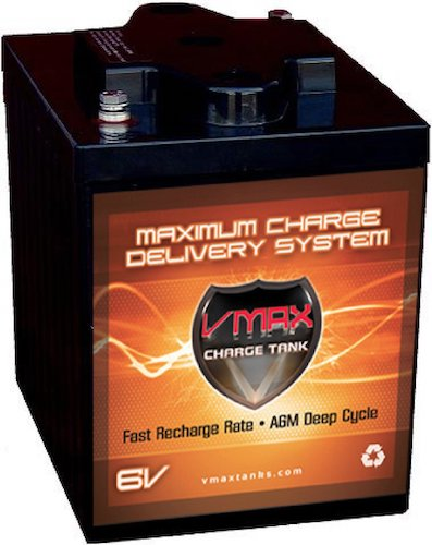 3. VMAXTANKS 6 Volt 225Ah AGM Battery: High Capacity & Maintenance Free Deep Cycle Battery