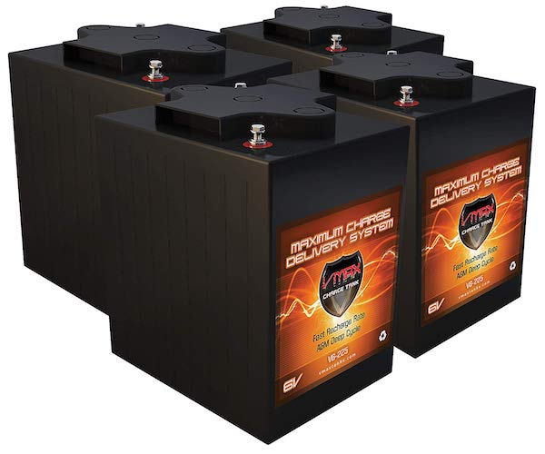 2. Qty 4 VMAX V6-225: 6.2kWh 24V AGM Solar Battery