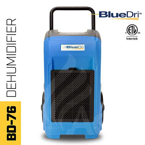 2. BlueDri BD-76 Industrial Commercial Grade Large Dehumidifier