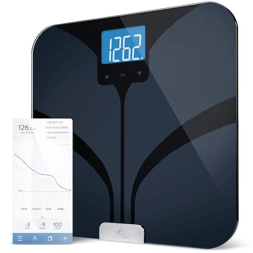 8. Greater Goods Smart Connected Body Fat Bathroom Scale