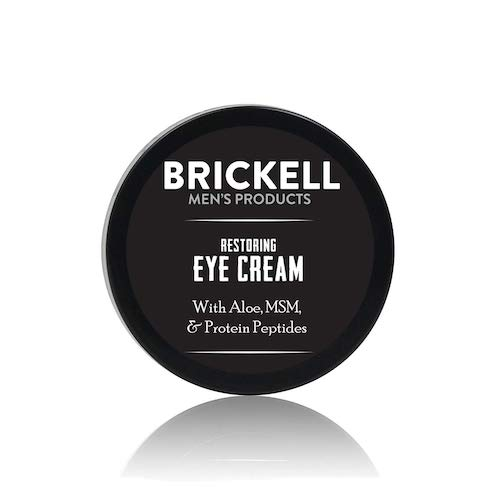 3. Brickell Men's Restoring Eye Cream for Men, Natural and Organic Anti-Aging Eye Balm to Reduce Puffiness, Wrinkles, Dark Circles, Crows Feet and Under Eye Bags, .5 Ounce, Unscented