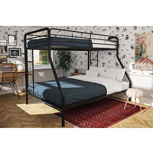 4. Dorel Twin-Over-Full Metal Bunk Bed, Multiple Colors