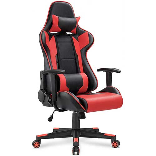 Home Office Desk Chairs Red Black 6