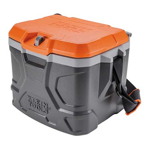 1. Work Cooler 17-Quart, Keep Cool 30 Hours, Seats 300 Pounds, Tradesman Pro Tough Box Klein Tools 55600