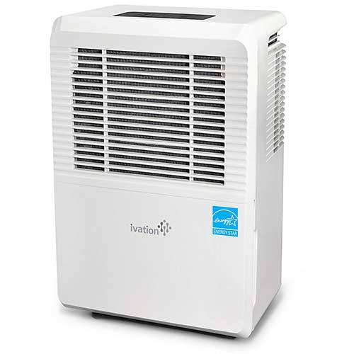 4. Ivation 70 Pint Energy Star Dehumidifier with Pump, Large Capacity Compressor for Spaces Up To 4,500 Sq Ft, Includes Programmable Humidity, Hose Connector, Auto Shutoff and Restart and Washable Filter