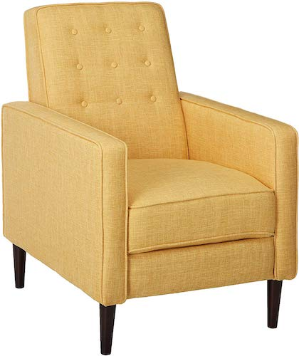 6. Christopher Knight Home Mason Recliner, Single, Muted Yellow