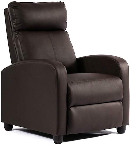 2. Single Reclining Sofa Leather Chair Home Theater Seating Living Room Lounge Chaise