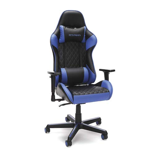 2. RESPAWN 100 Racing Style Gaming Chair, in Blue (RSP-100-BLU)