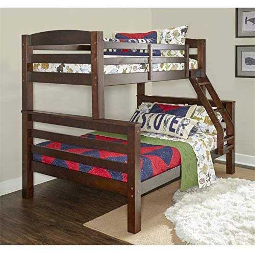 5. Powell D1046Y16 Bunk Bed, Twin/Full, Espresso