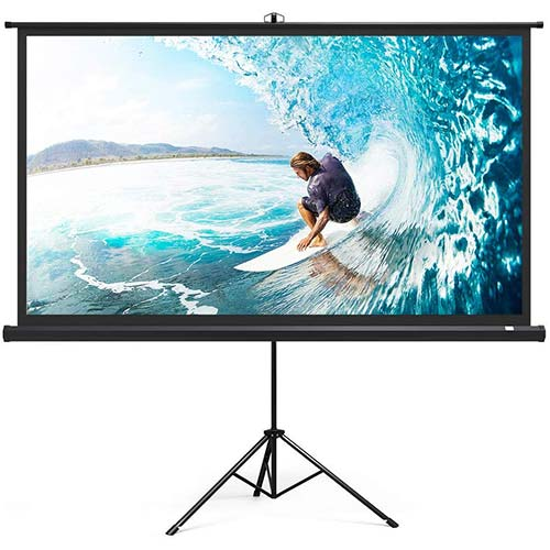 8. Projector Screen with Stand, TaoTronics Indoor Outdoor Projection Screen