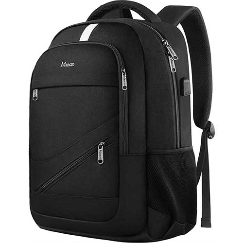 8. Laptop Backpack, Business Travel RFID Water Resistant Computer Bag