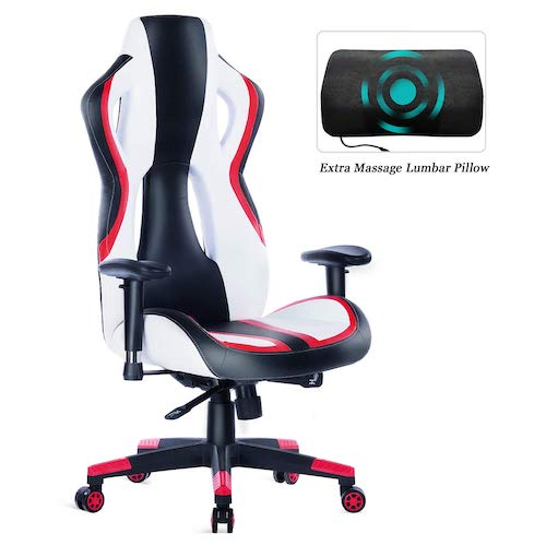 4. HEALGEN Gaming Chair Racing Style High-Back PU Leather Office Chair