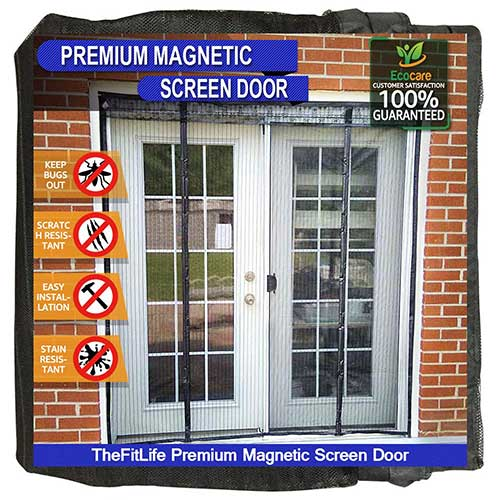 2. TheFitLife Double Door Magnetic Screen