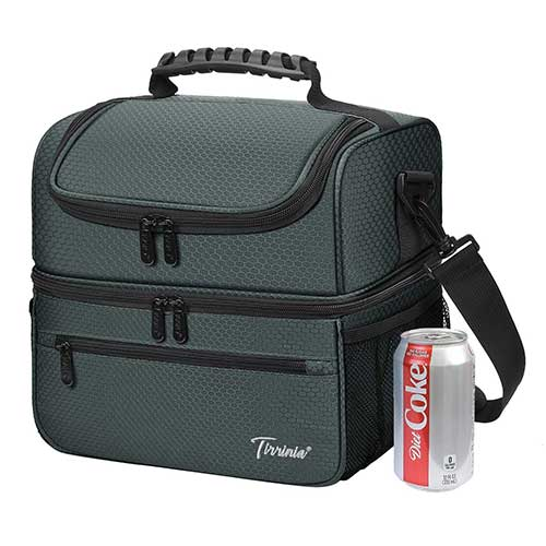 4. Extra Large Lunch Bag - 13L/ 22 Can, Insulated & Leak-proof Adult Reusable Meal Prep Bento Box Cooler Tote